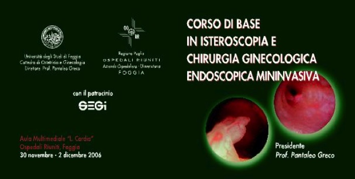 CORSO ISTEROSCOPIA E CHIRURGIA ENDOSCOPICA MINI INVASIVA